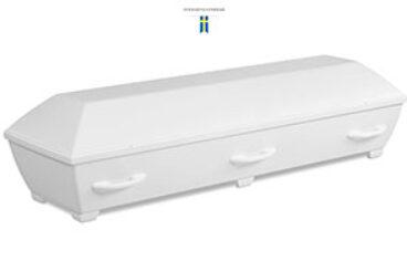 Miljöbegravning Saga vit  tillverkad av biokomposit
